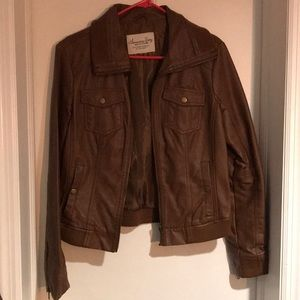 Women's American Rag Brown Faux Leather Jacket